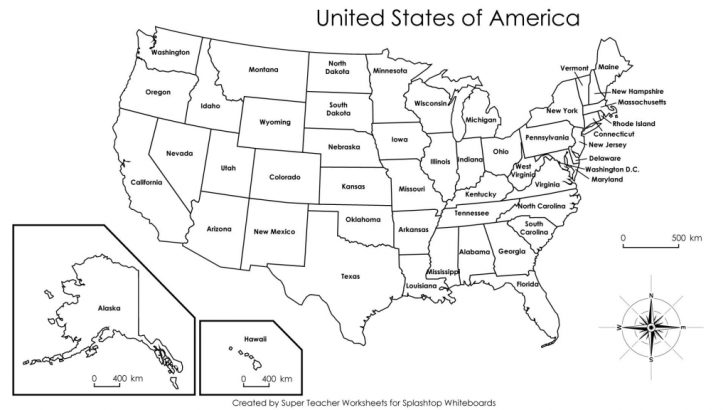 Large Printable Us Map