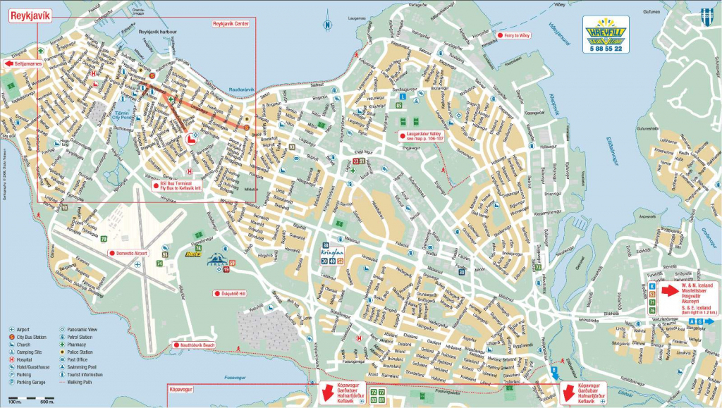 Large Reykjavik Maps For Free Download And Print | High-Resolution within Printable Local Maps