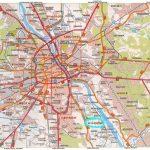 Large Road Map Of Warsaw City. Warsaw City Large Road Map | Vidiani In Warsaw Tourist Map Printable