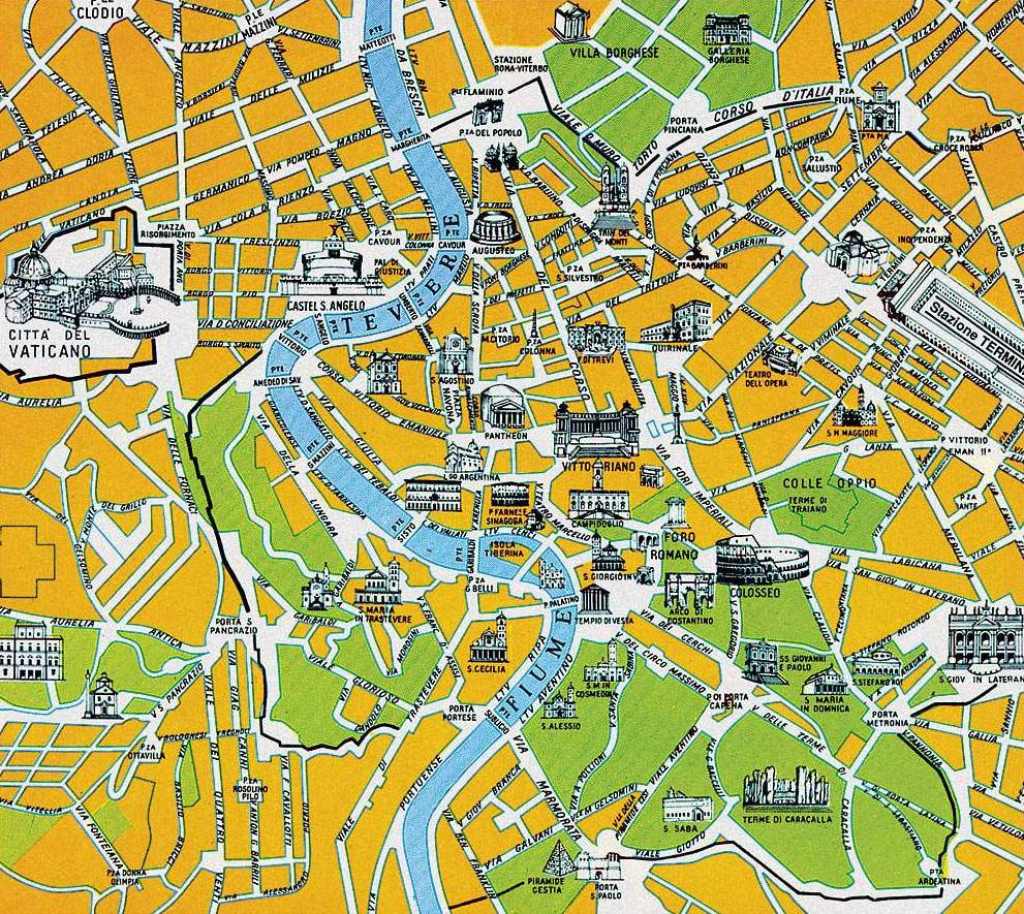 Large Rome Maps For Free Download And Print | High-Resolution And for Rome City Map Printable