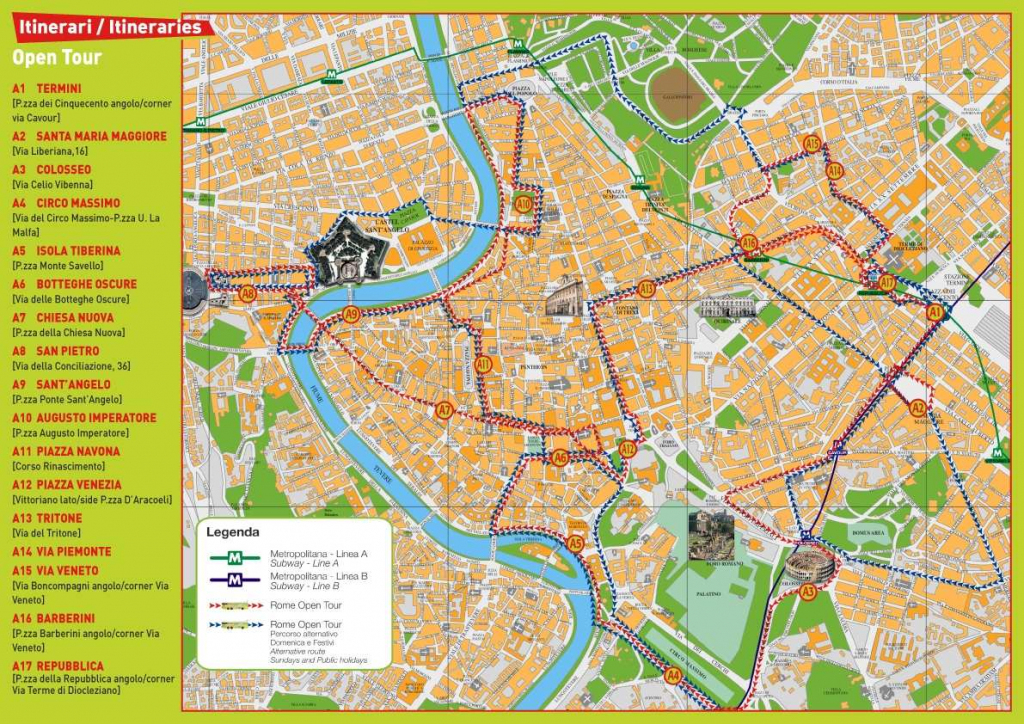 Large Rome Maps For Free Download And Print | High-Resolution And in Street Map Of Rome Printable
