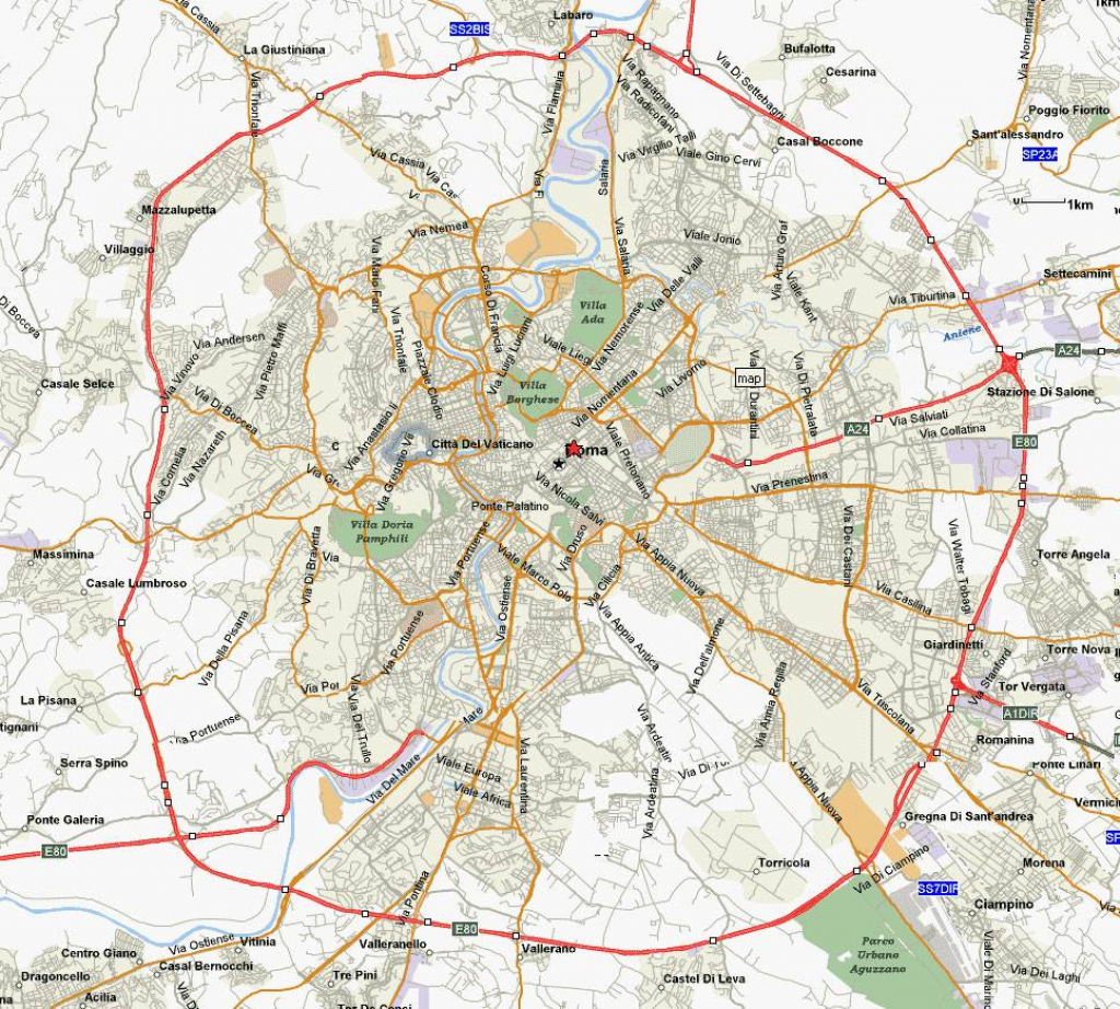 Large Rome Maps For Free Download And Print | High-Resolution And inside Printable Map Of Rome City Centre