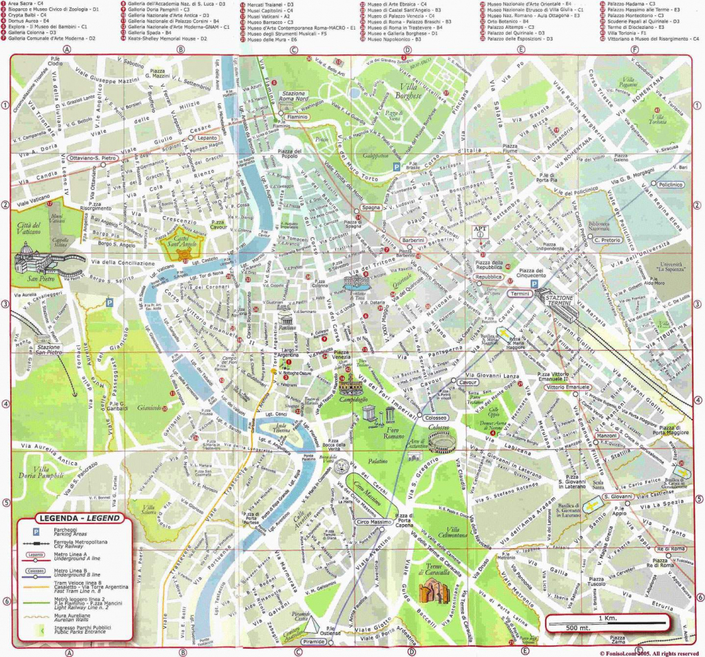 Large Rome Maps For Free Download And Print | High-Resolution And throughout Printable Map Of Rome Attractions