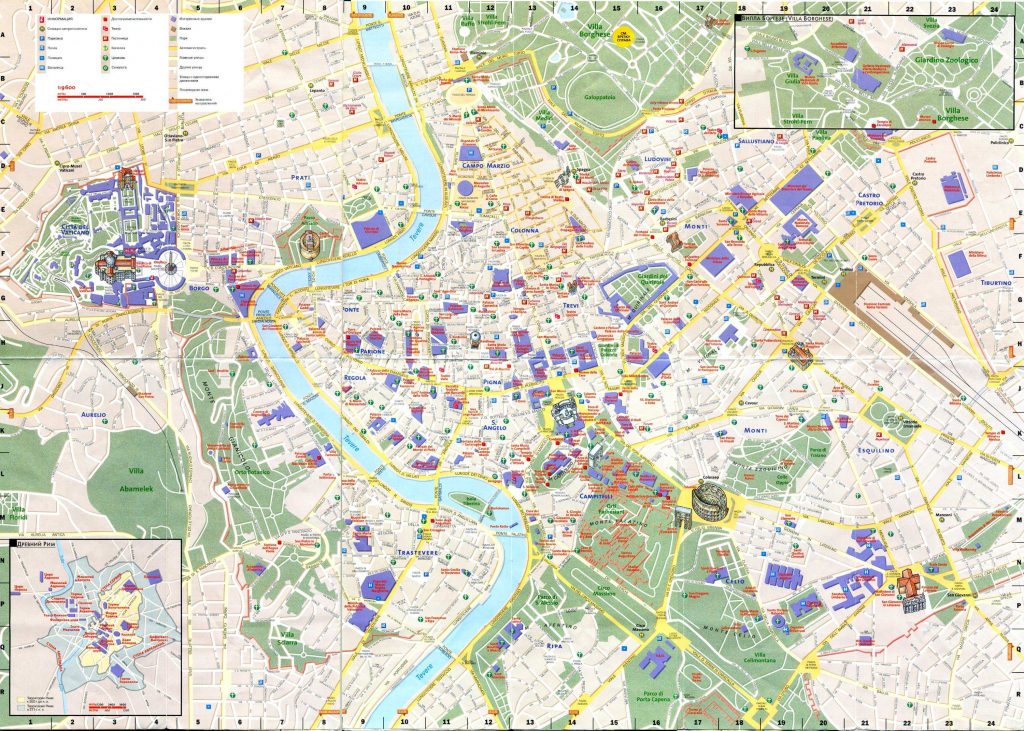 Large Rome Maps For Free Download And Print | High-Resolution And with Printable Walking Map Of Rome