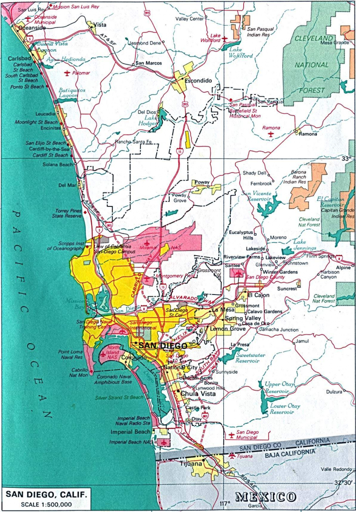 Large San Diego Maps For Free Download And Print | High-Resolution with Printable Map Of San Diego