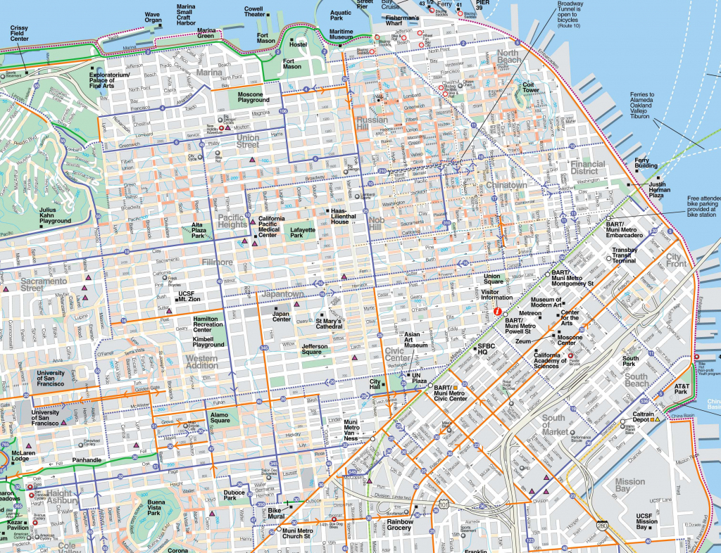 Large San Francisco Maps For Free Download And Print | High for Map Of San Francisco Attractions Printable