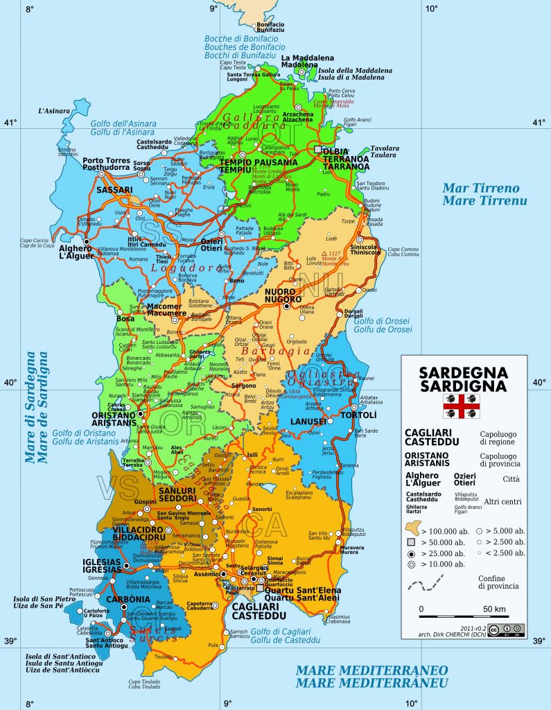 Large Sardinia Maps For Free Download And Print | High-Resolution with regard to Printable Map Of Sardinia