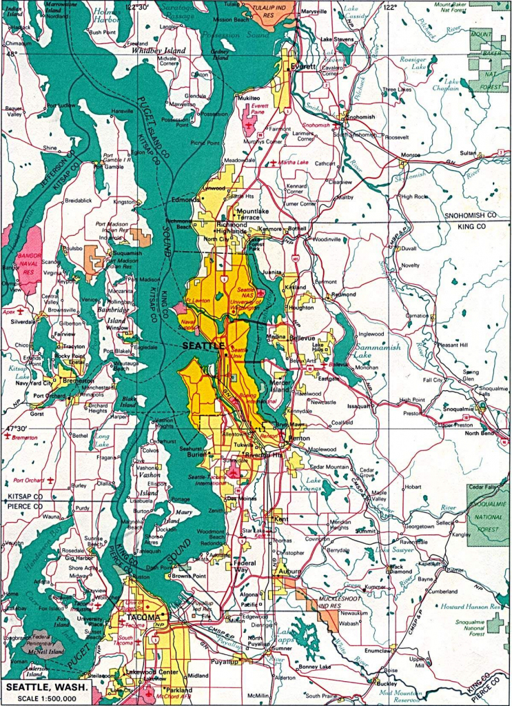 Large Seattle Maps For Free Download And Print | High-Resolution And pertaining to Printable Map Of Seattle