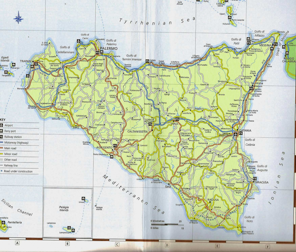 Large Sicily Maps For Free Download And Print | High-Resolution And within Printable Map Of Sicily
