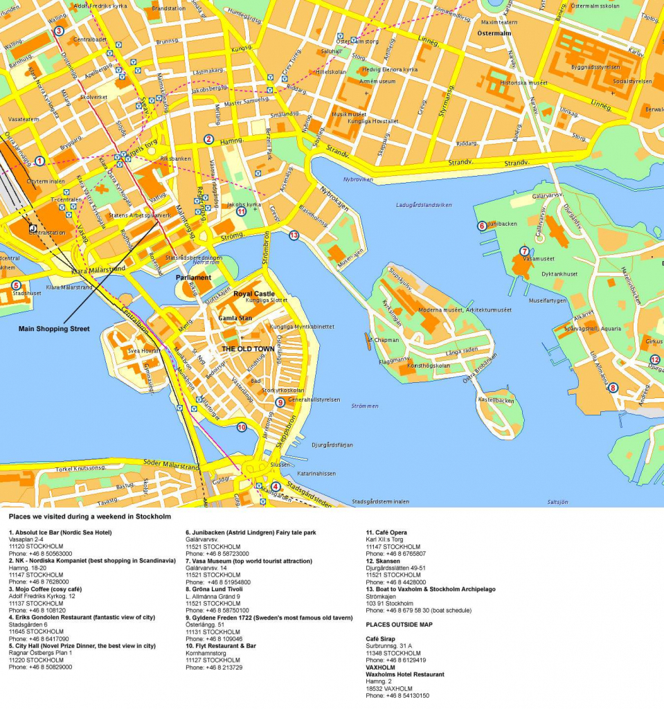 Large Stockholm Maps For Free Download And Print | High-Resolution in Printable Map Of Stockholm