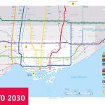 Large Subway Map Of Toronto – 2030. Toronto Large Subway Map Pertaining To Toronto Subway Map Printable