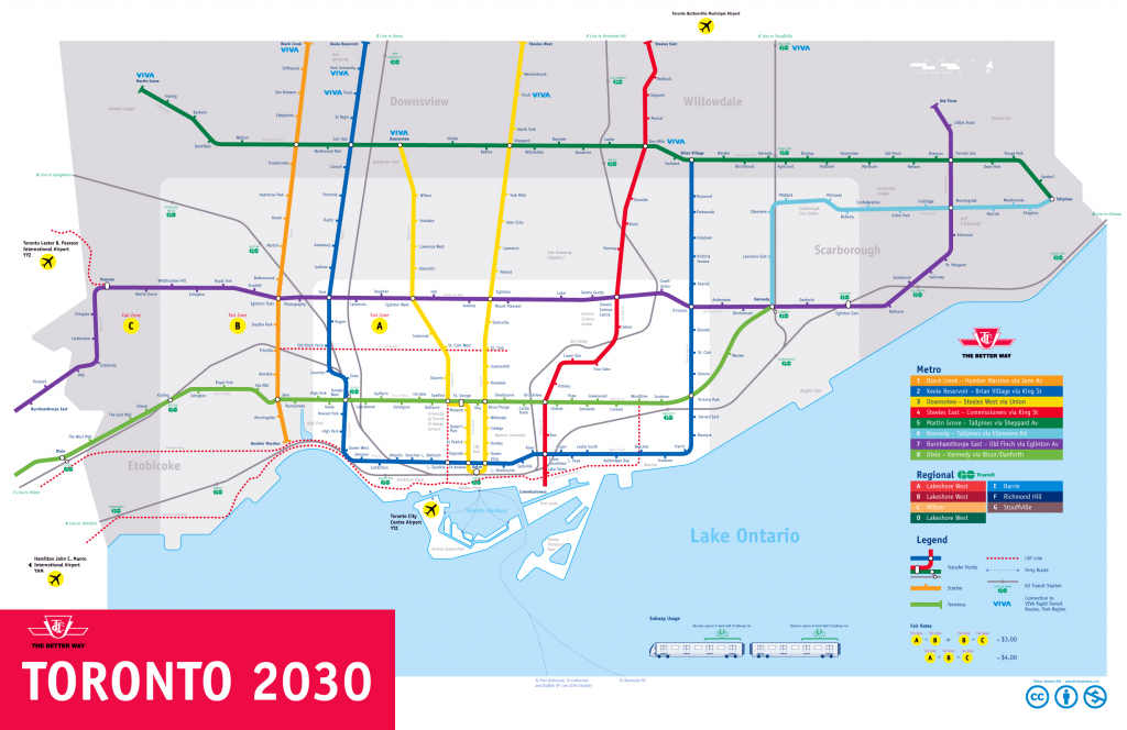Large Subway Map Of Toronto – 2030. Toronto Large Subway Map pertaining to Toronto Subway Map Printable