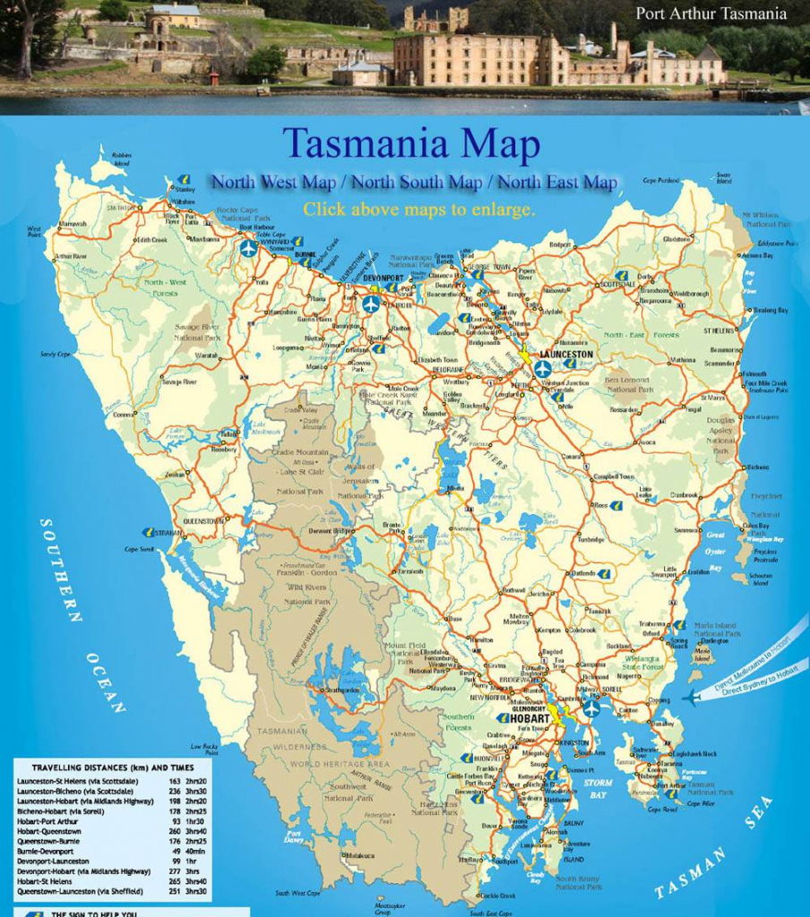 Large Tasmania Maps For Free Download And Print | High-Resolution intended for Printable Map Of Tasmania