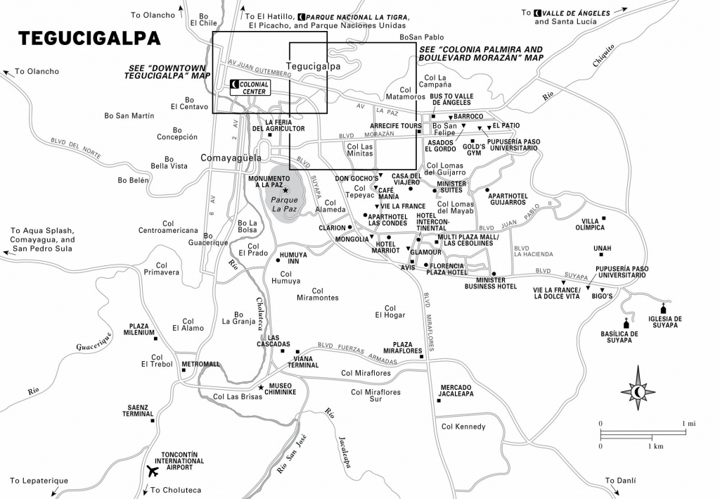 Large Tegucigalpa Maps For Free Download And Print | High-Resolution inside Printable Map Of Honduras