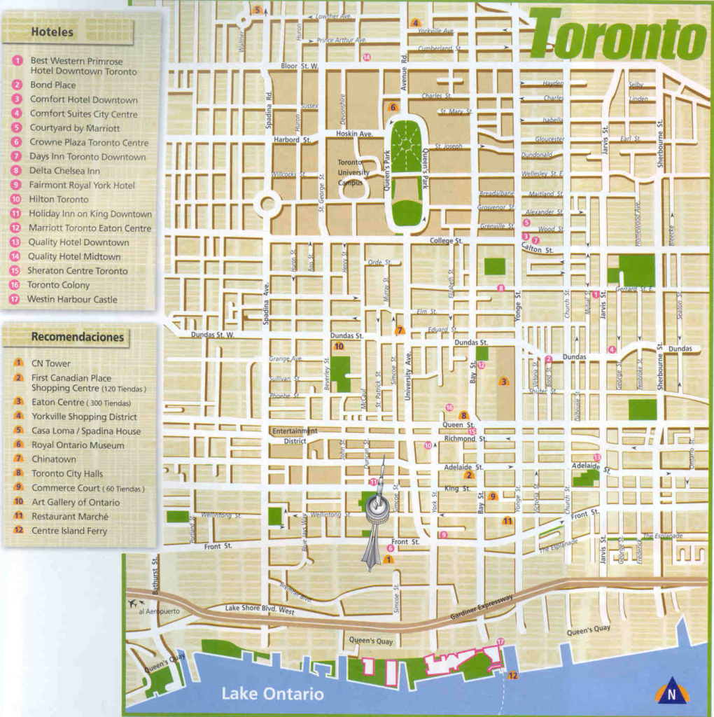 Large Toronto Maps For Free Download And Print | High-Resolution And for Printable Map Of Toronto