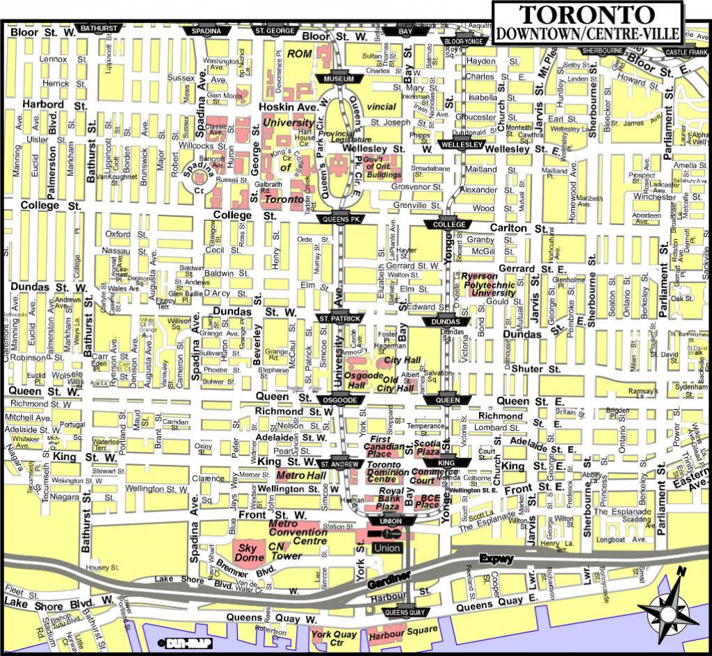 Large Toronto Maps For Free Download And Print | High-Resolution And inside Printable Map Of Toronto