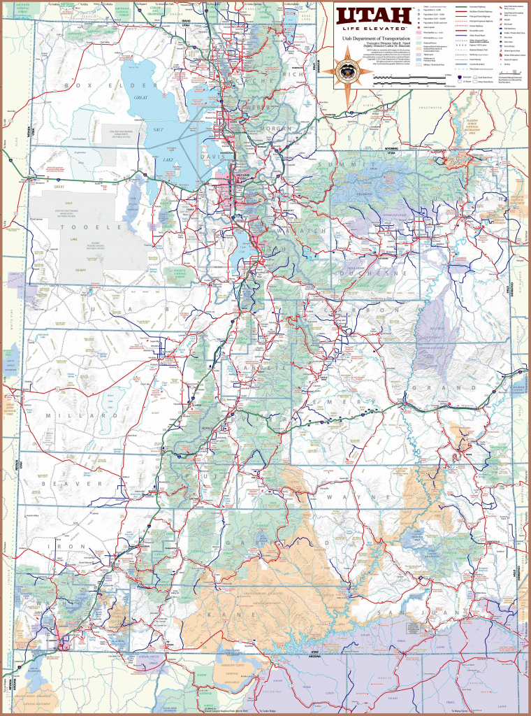 Large Utah Maps For Free Download And Print | High-Resolution And for Utah State Map Printable