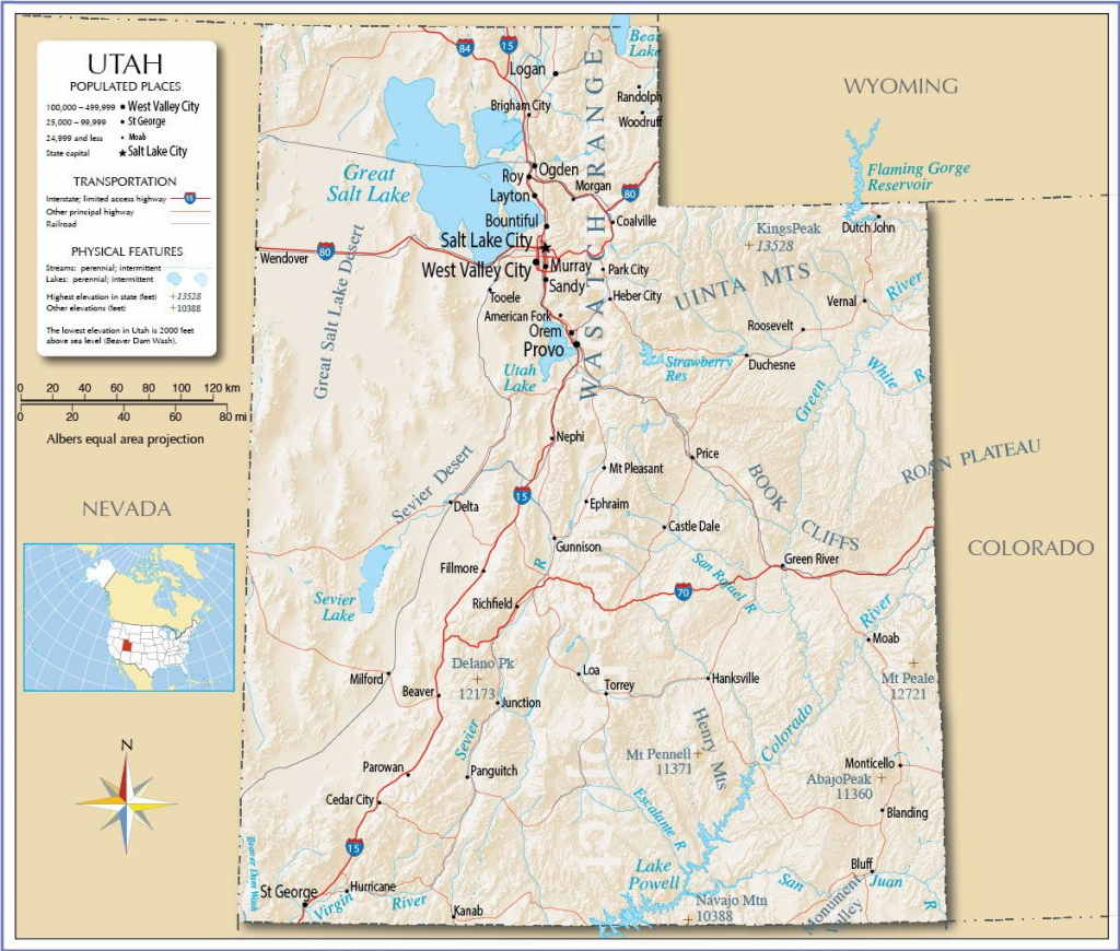Large Utah Maps For Free Download And Print | High-Resolution And inside Printable Map Of Utah