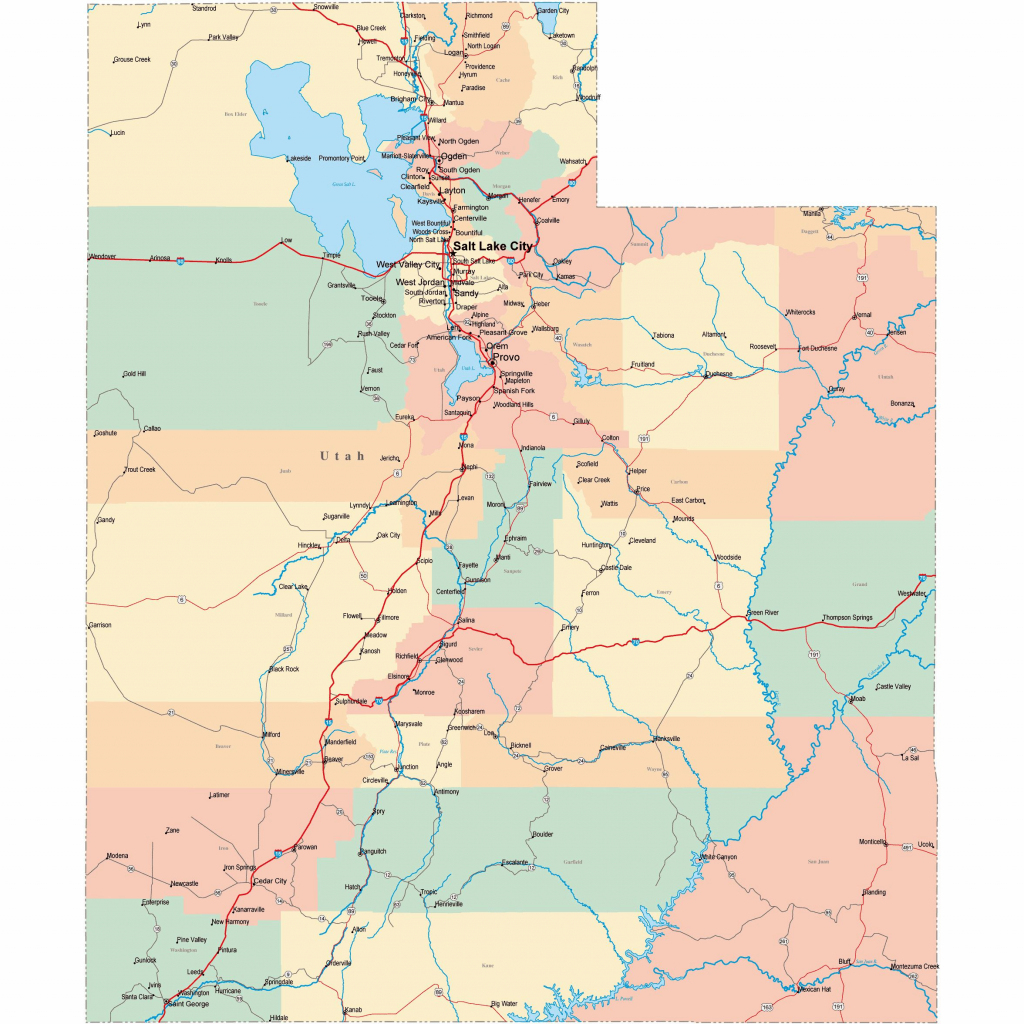 Large Utah Maps For Free Download And Print | High-Resolution And with Utah State Map Printable