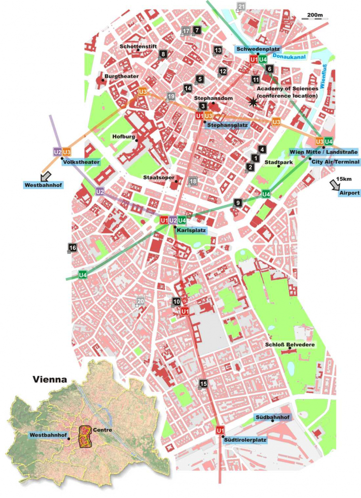 Large Vienna Maps For Free Download And Print | High-Resolution And in Printable Map Of Vienna