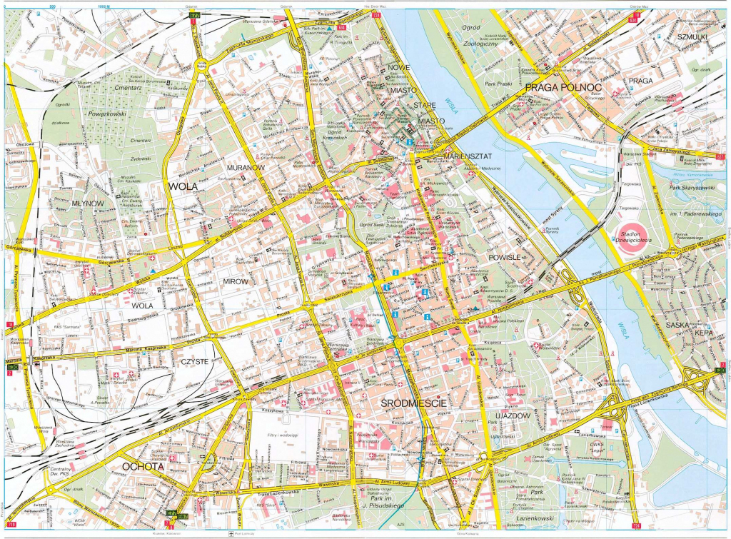 Large Warsaw Maps For Free Download And Print | High-Resolution And with Warsaw Tourist Map Printable