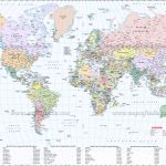 Large World Map Image Intended For Large Printable World Map With Country Names
