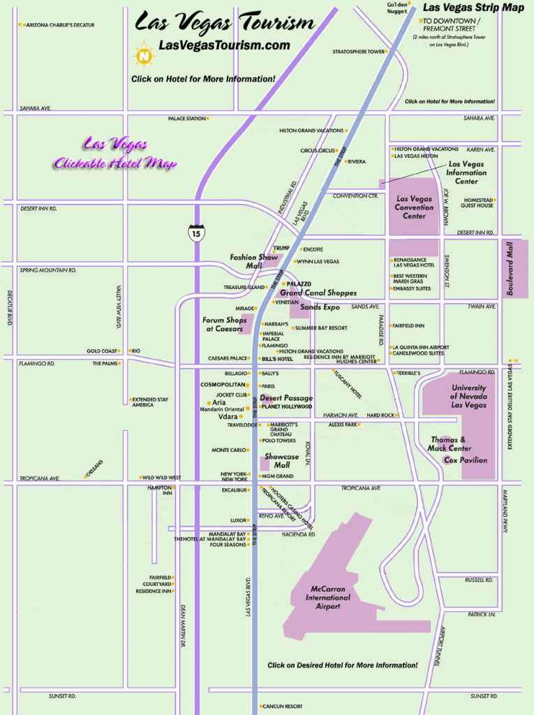 Las Vegas Map, Official Site - Las Vegas Strip Map in Printable Map Of Las Vegas Strip With Hotel Names
