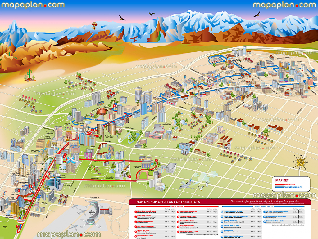 Las Vegas Maps - Top Tourist Attractions - Free, Printable City for Las Vegas Tourist Map Printable