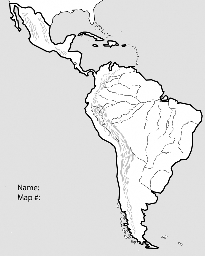 Latin America Blank Map | Ageorgio for Blank Map Of Latin America Printable