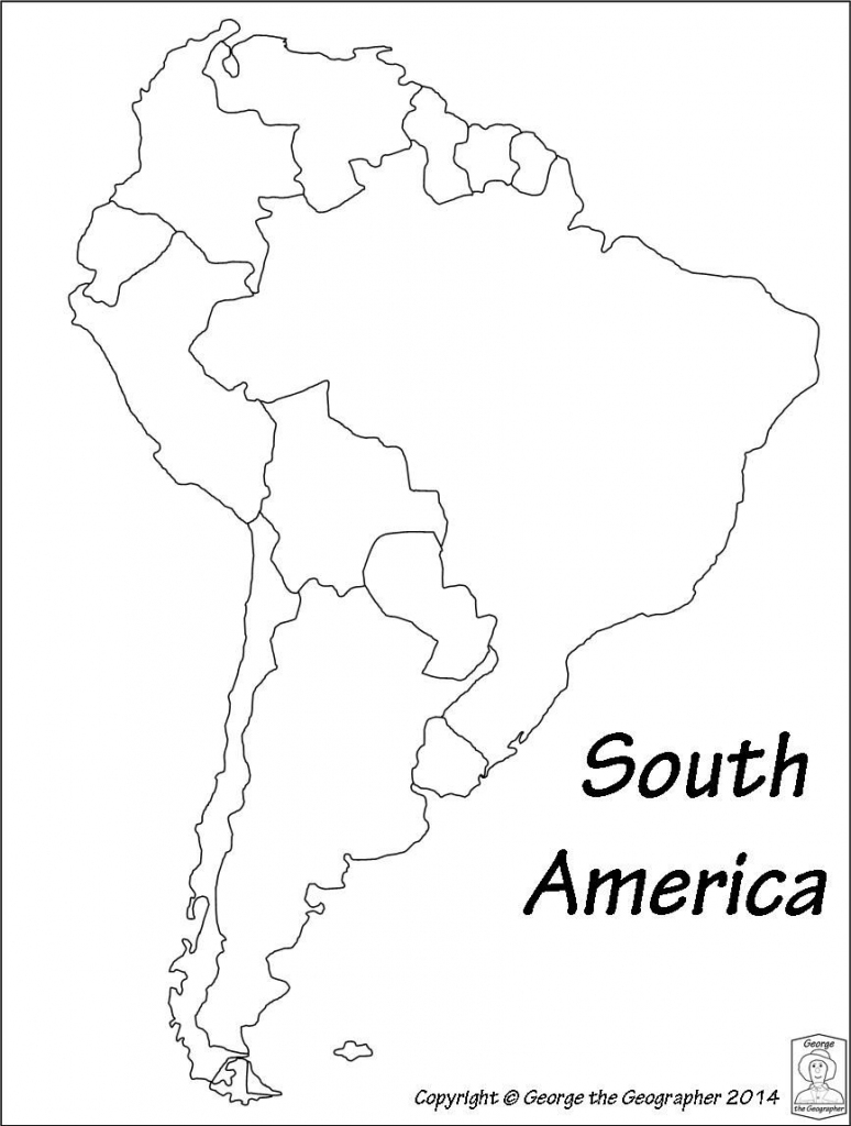 Latin America Printable Blank Map South Brazil Maps Of Within And in Printable Map Of South America