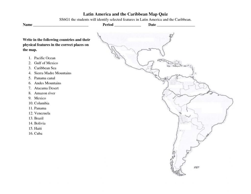 Latin America Printable Blank Map South Brazil The And Best Of Quiz intended for Latin America Map Quiz Printable