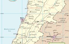 Lebanon Political Map throughout Printable Map Of Lebanon