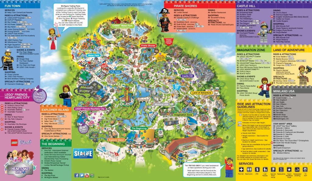 Legoland California Park Map Printable Map Of Theme Parks In within Legoland Printable Map