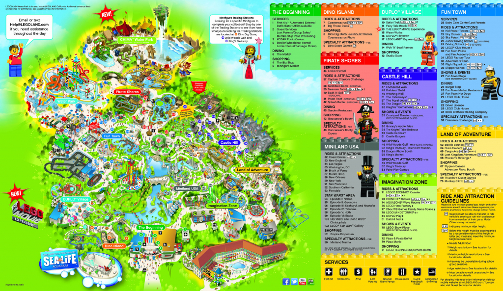 Legoland California Water Park Map | Printable Maps inside Legoland California Printable Map