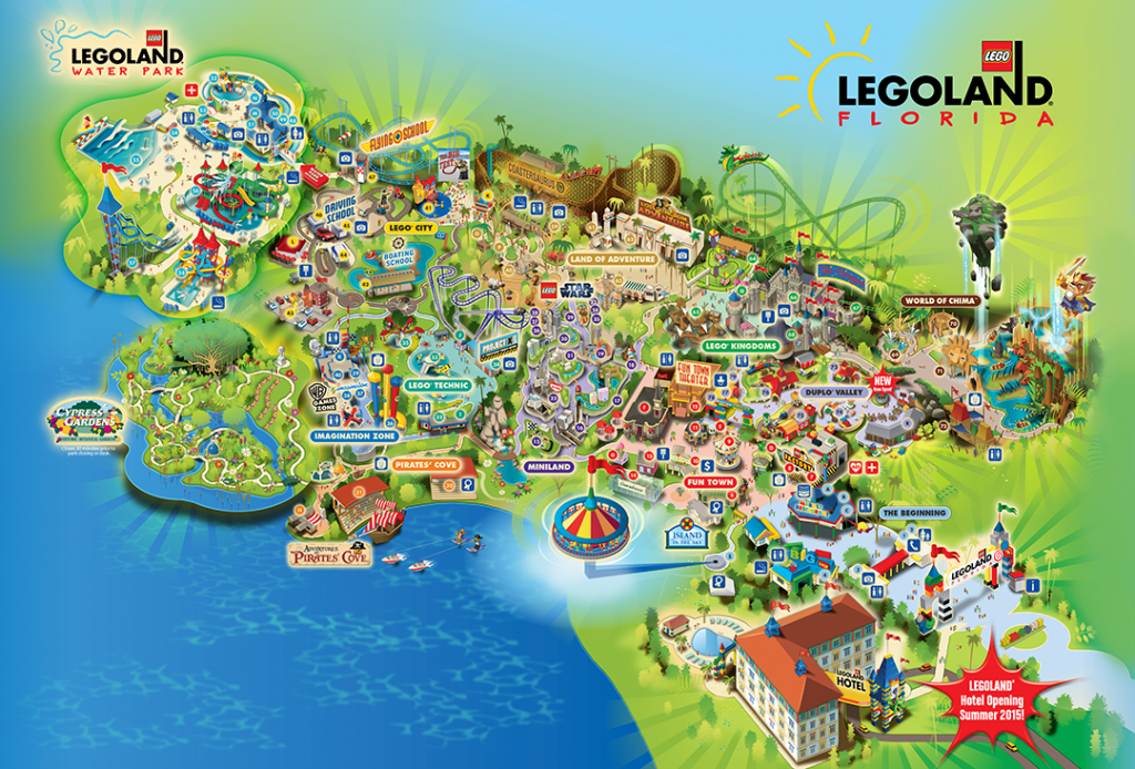 Legoland® Florida Is A 150-Acre Interactive Theme Park With More in Legoland Printable Map