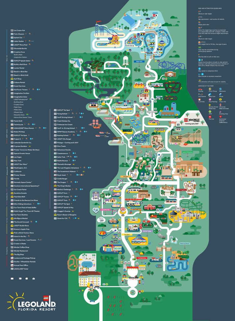 Legoland Florida Map 2016 On Behance intended for Legoland Printable Map
