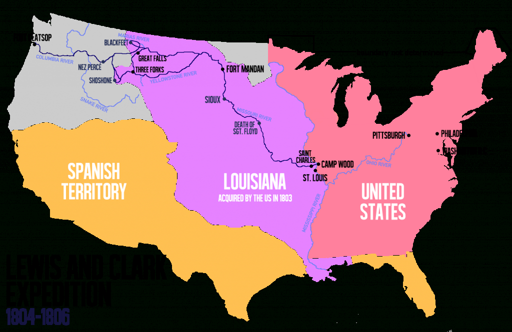 Lewis And Clark Expedition - Wikipedia with regard to Lewis And Clark Expedition Map Printable