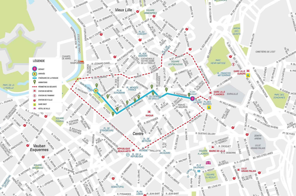 Lille City Center Map - Aishouzuo pertaining to Printable Map Of Lille City Centre