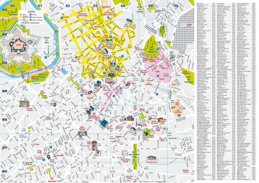 Lille City Centre Map - Printable Map Of Lille City Centre (Hauts-De inside Printable Map Of Lille City Centre