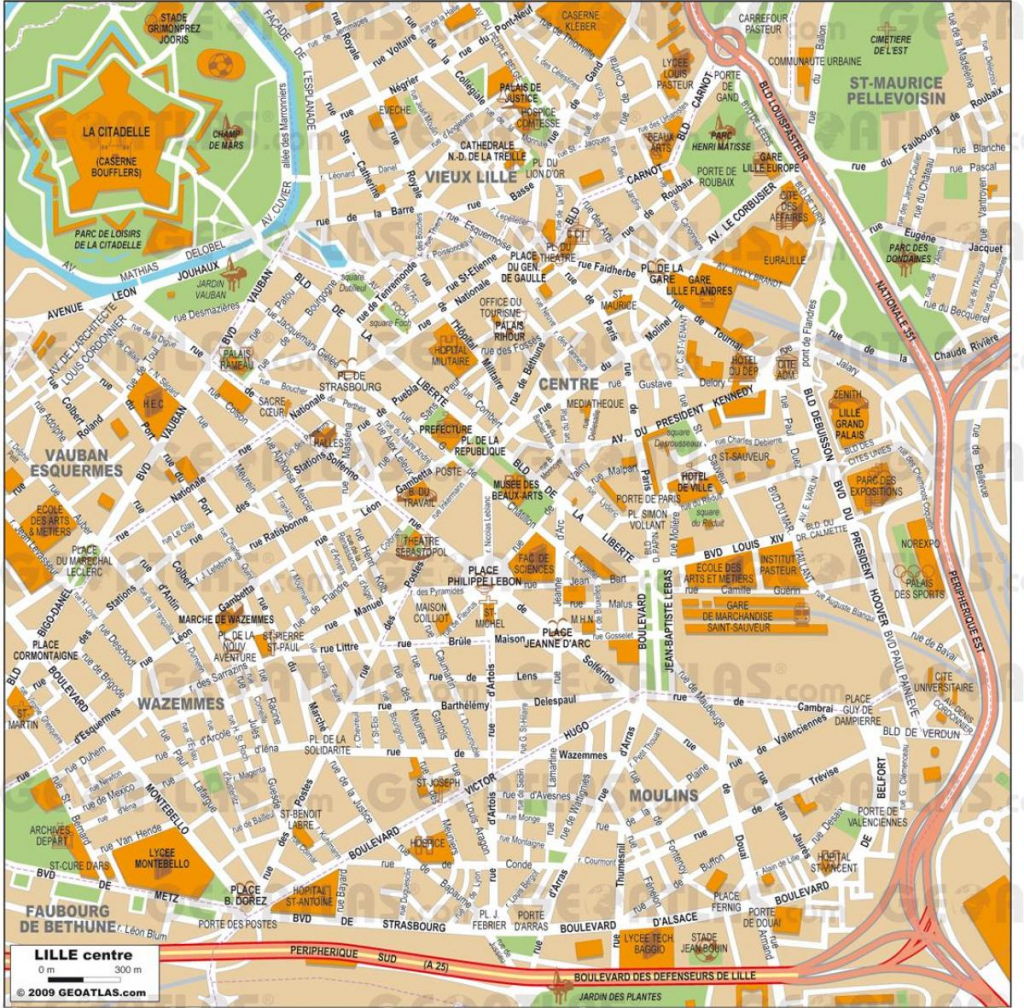 Lille Maps - Lille Map Pdf (Hauts-De-France - France) inside Printable Map Of Lille City Centre