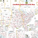 Lincmad's 2019 Area Code Map With Time Zones Regarding Us Area Code Map Printable