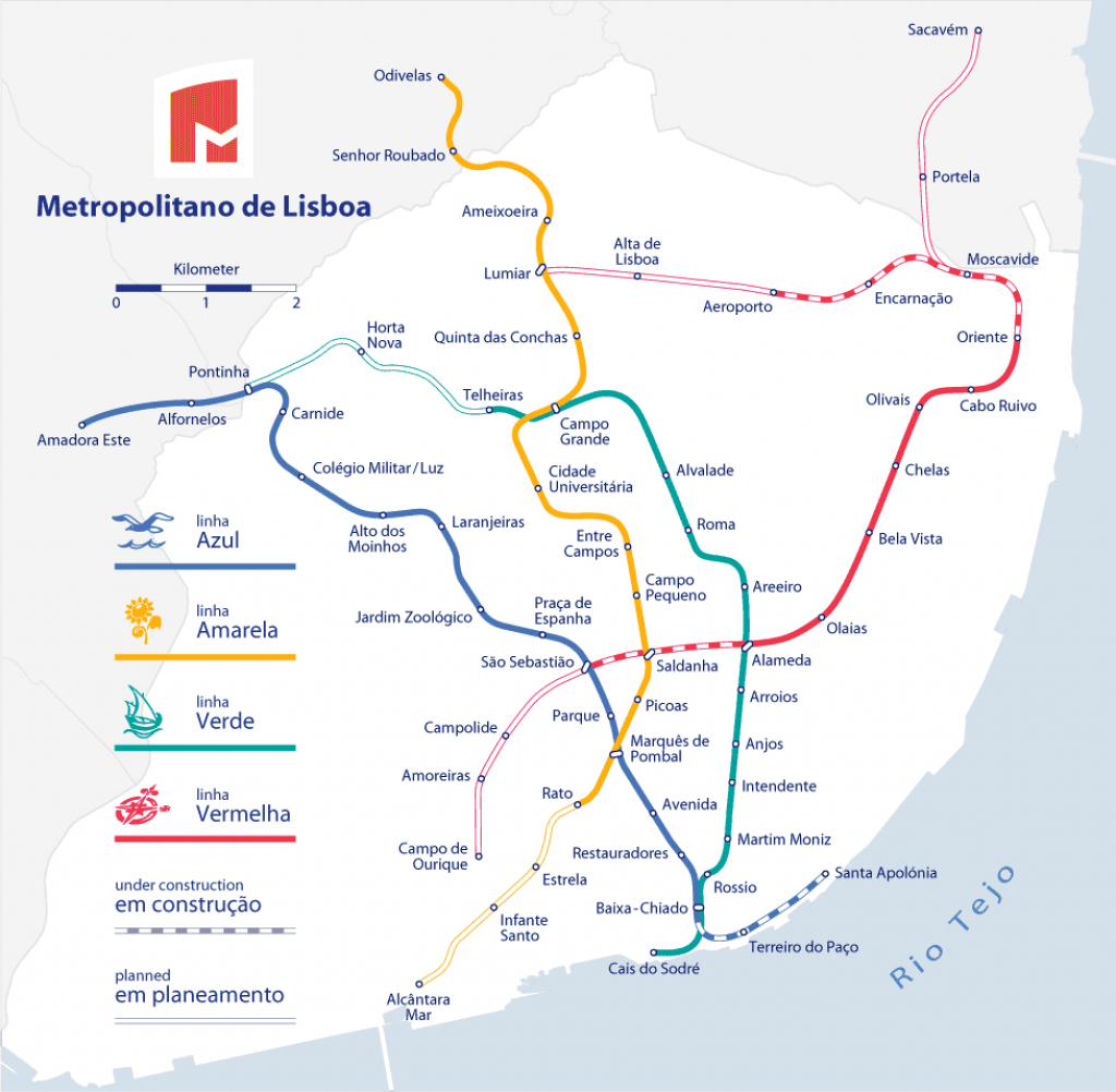 Lisbon Metro - The Fastest Way To Get Around Lisbon with Lisbon Metro Map Printable