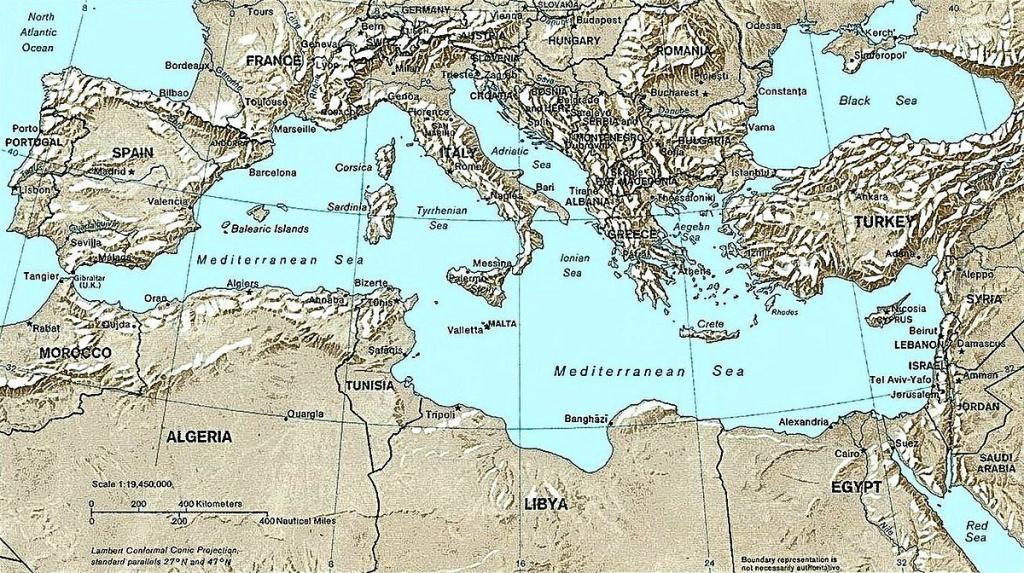 List Of Mediterranean Countries - Wikipedia regarding Printable Map Of The Mediterranean Sea Area
