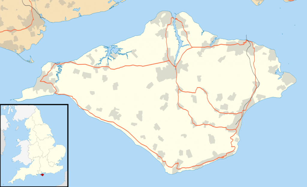List Of Places On The Isle Of Wight - Wikipedia within Printable Map Of Isle Of Wight