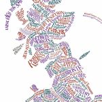Literary Britain Map Printthe Literary Gift Company Pertaining To Printable Map Of Britain