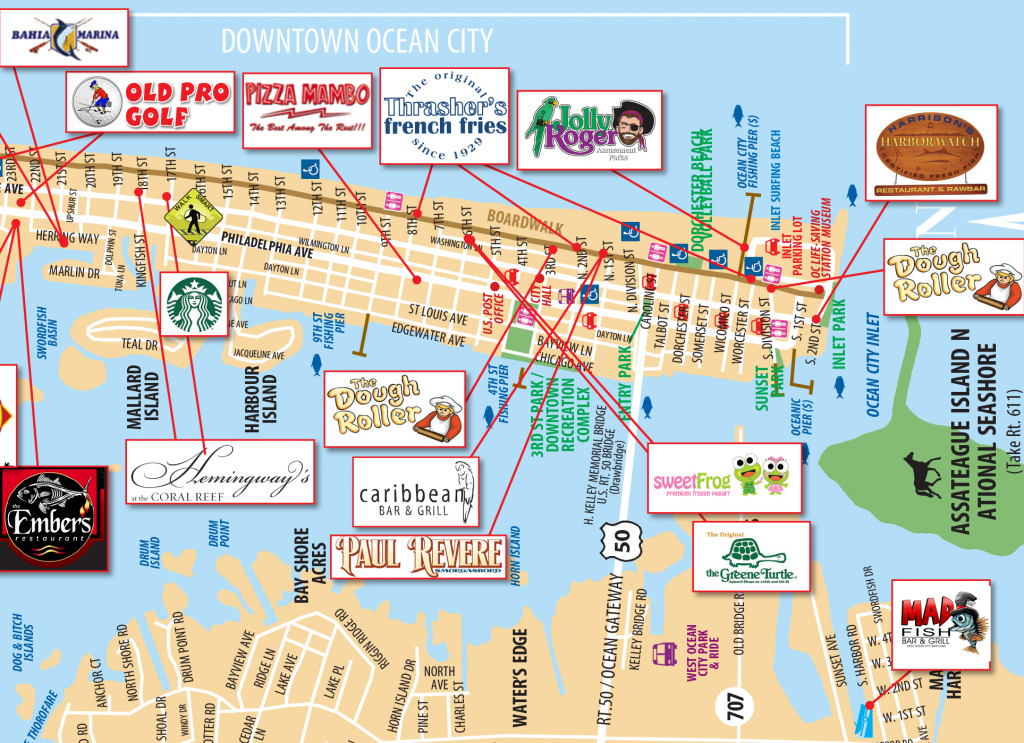 Local Maps | Ocean City Md Chamber Of Commerce inside Printable Map Of Ocean City Md Boardwalk