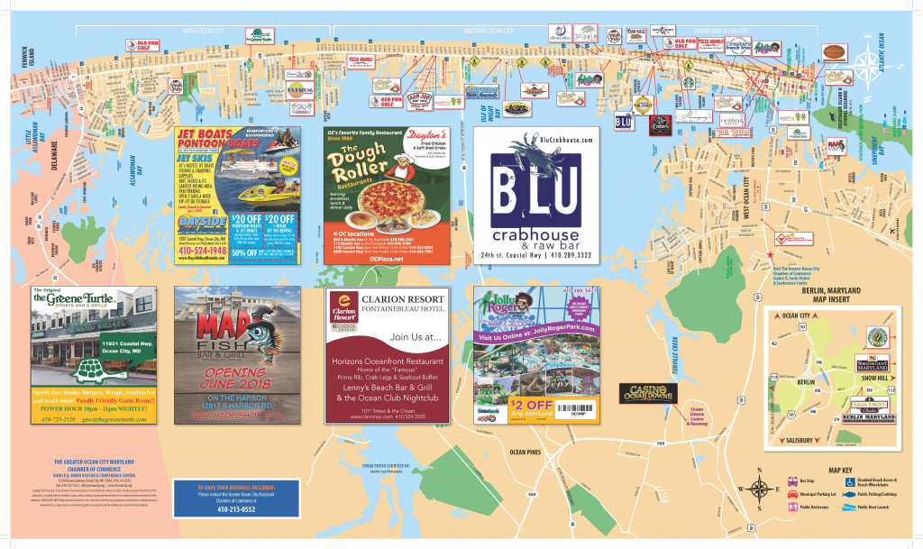 Local Maps | Ocean City Md Chamber Of Commerce regarding Printable Map Of Ocean City Md Boardwalk