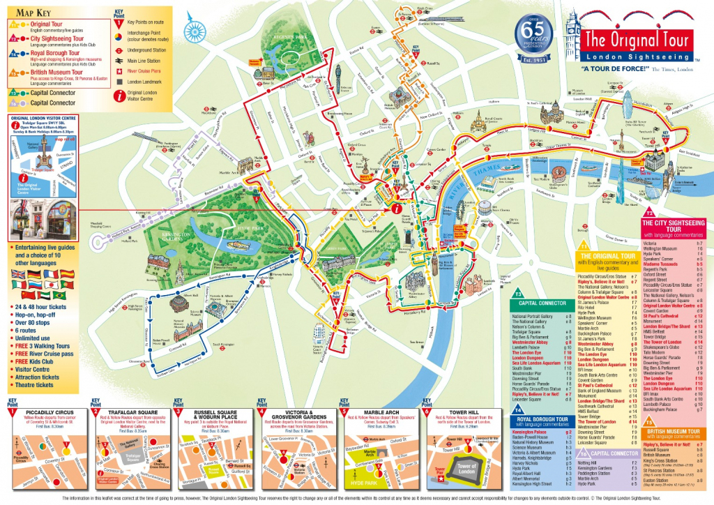 London Attractions Map Pdf - Free Printable Tourist Map London pertaining to London Tourist Map Printable