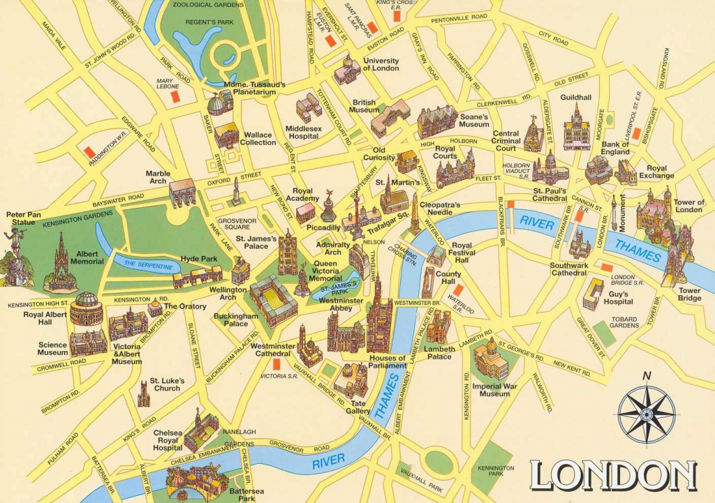London Attractions Map Pdf - Free Printable Tourist Map London with regard to London Sightseeing Map Printable