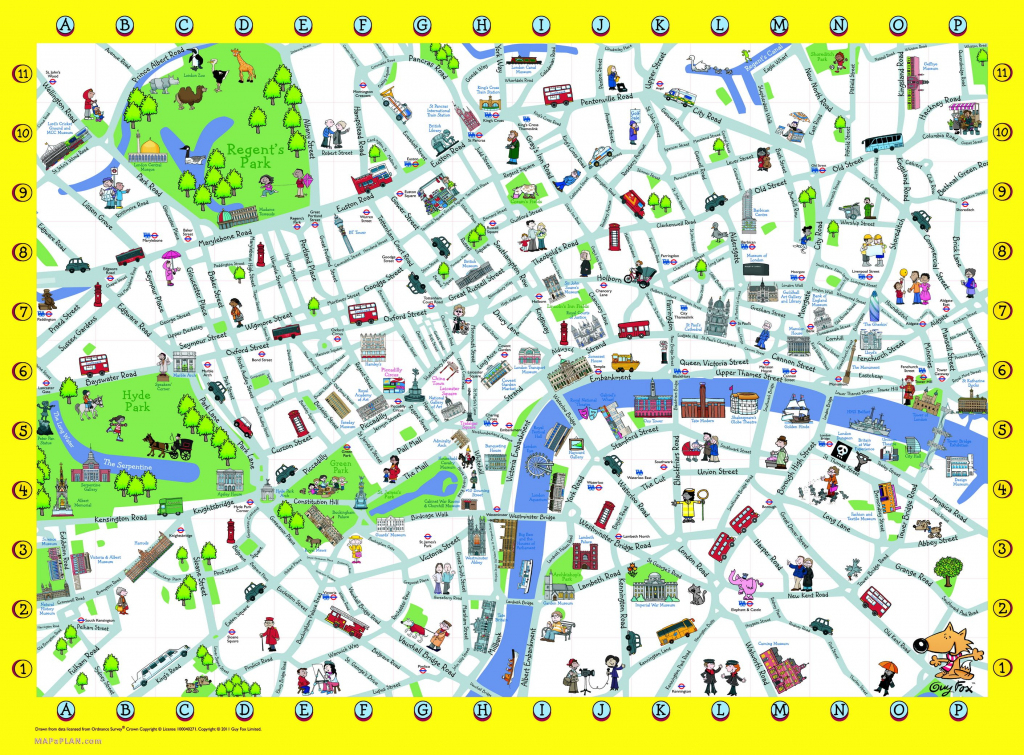 London Detailed Landmark Map | London Maps - Top Tourist Attractions within Map Of London Attractions Printable